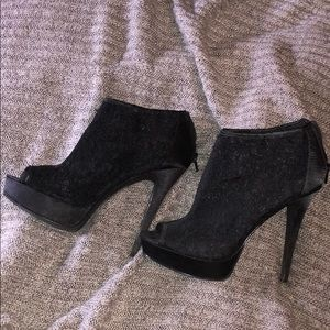 Black Sexy Lace High Heels